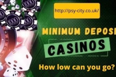 Minimum Deposit in Online Casinos - How Low Can You Go